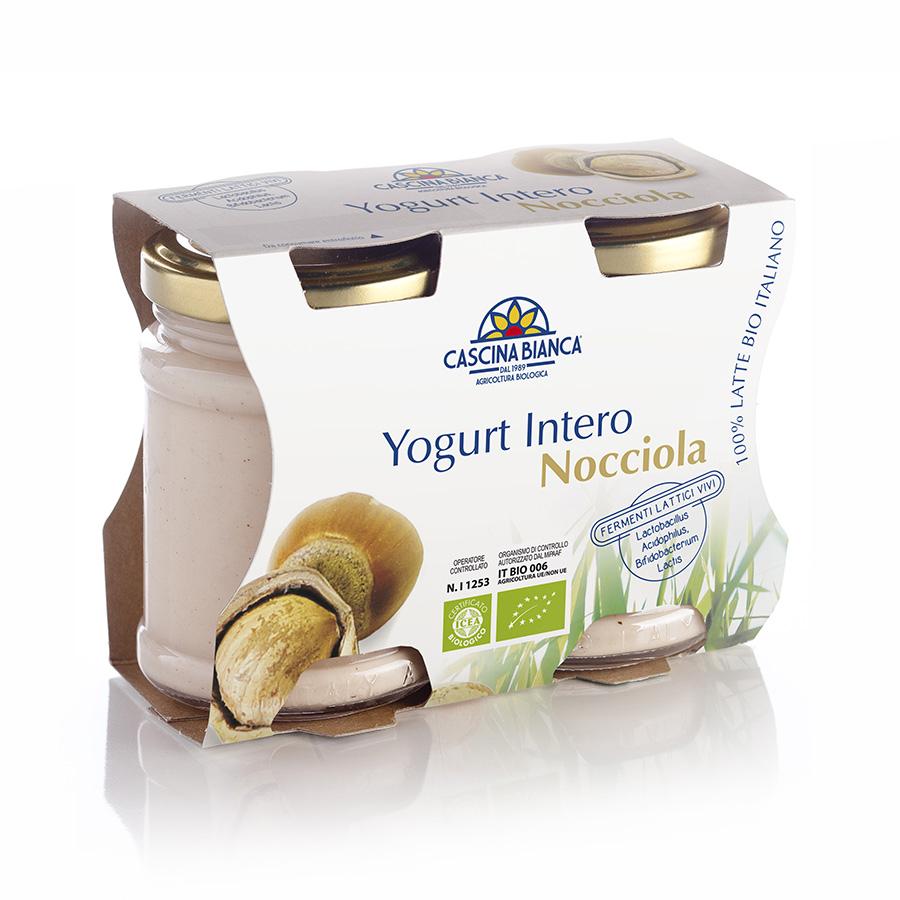 CascinaBianca Yogurt Intero Biologico 250g Nocciola
