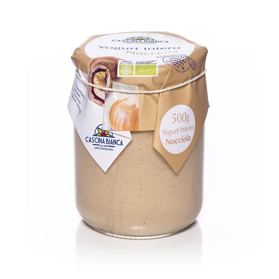 CascinaBianca Yogurt Intero Biologico 500g Nocciola