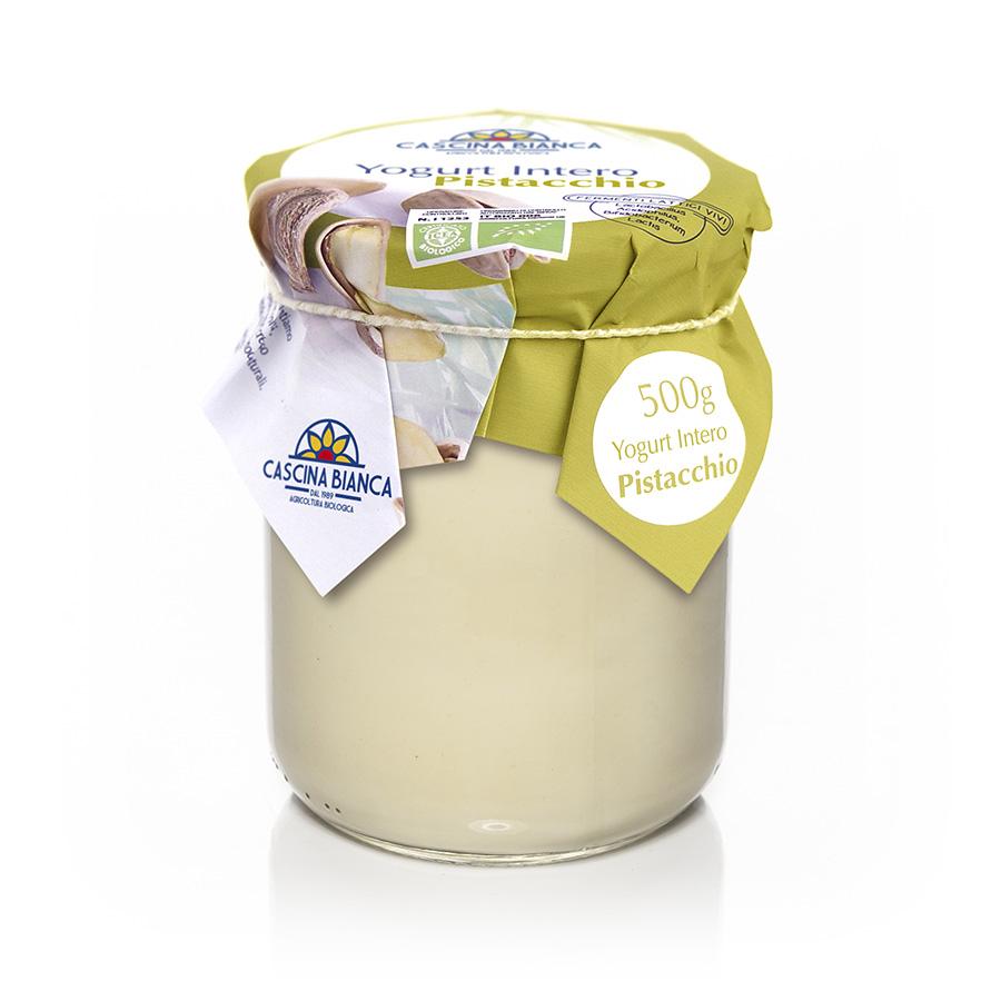 CascinaBianca Yogurt Intero Biologico 500g Pistacchio