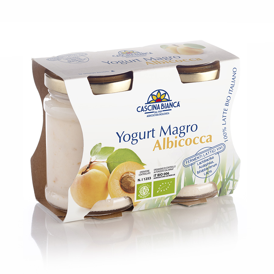 CascinaBianca Yogurt Magro Biologico 250g Albicocca