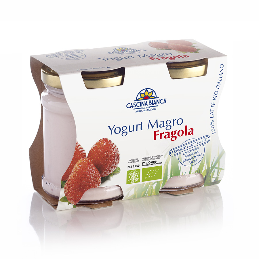 CascinaBianca Yogurt Magro Biologico 250g Fragola