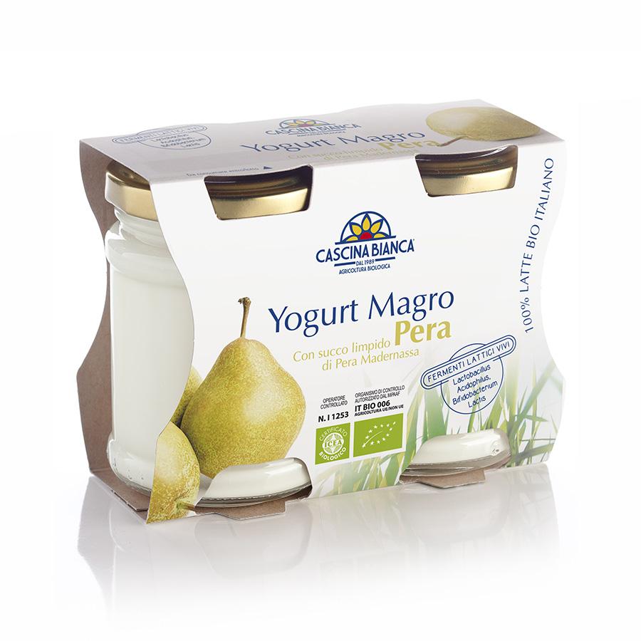 CascinaBianca Yogurt Magro Biologico 250g Pera