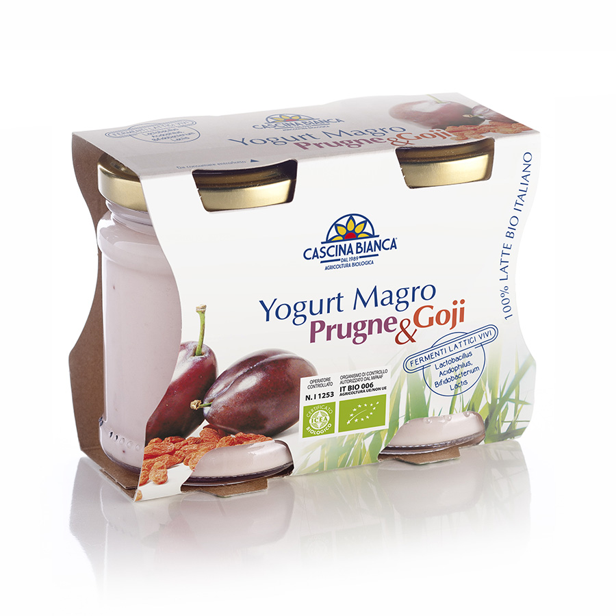 CascinaBianca Yogurt Magro Biologico 250g PrugneGoji