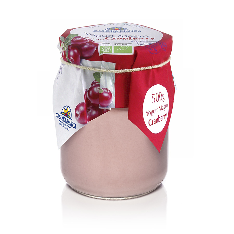 CascinaBianca Yogurt Magro Biologico 500g Cranberry