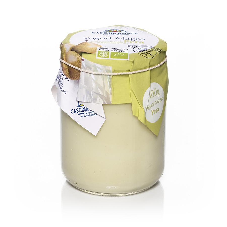 CascinaBianca Yogurt Magro Biologico 500g Pera