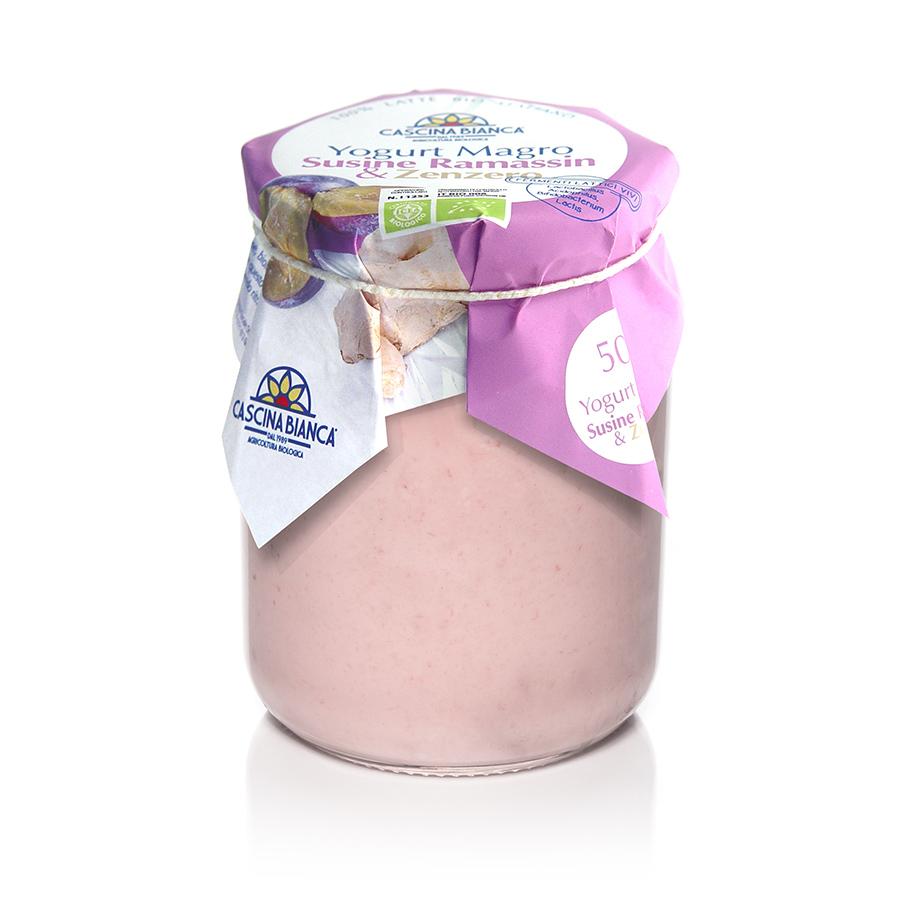 CascinaBianca Yogurt Magro Biologico 500g Ramassin e Zenzero