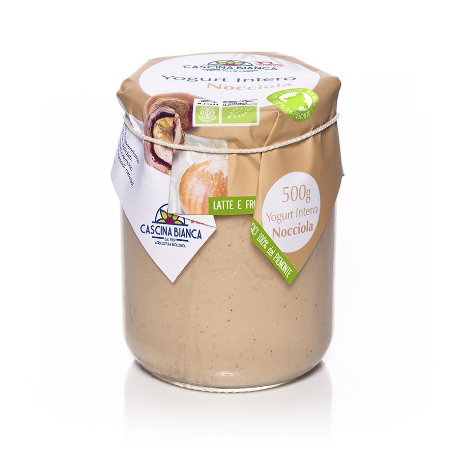 CascinaBianca Piemonte Yogurt Intero Biologico 500g Nocciola