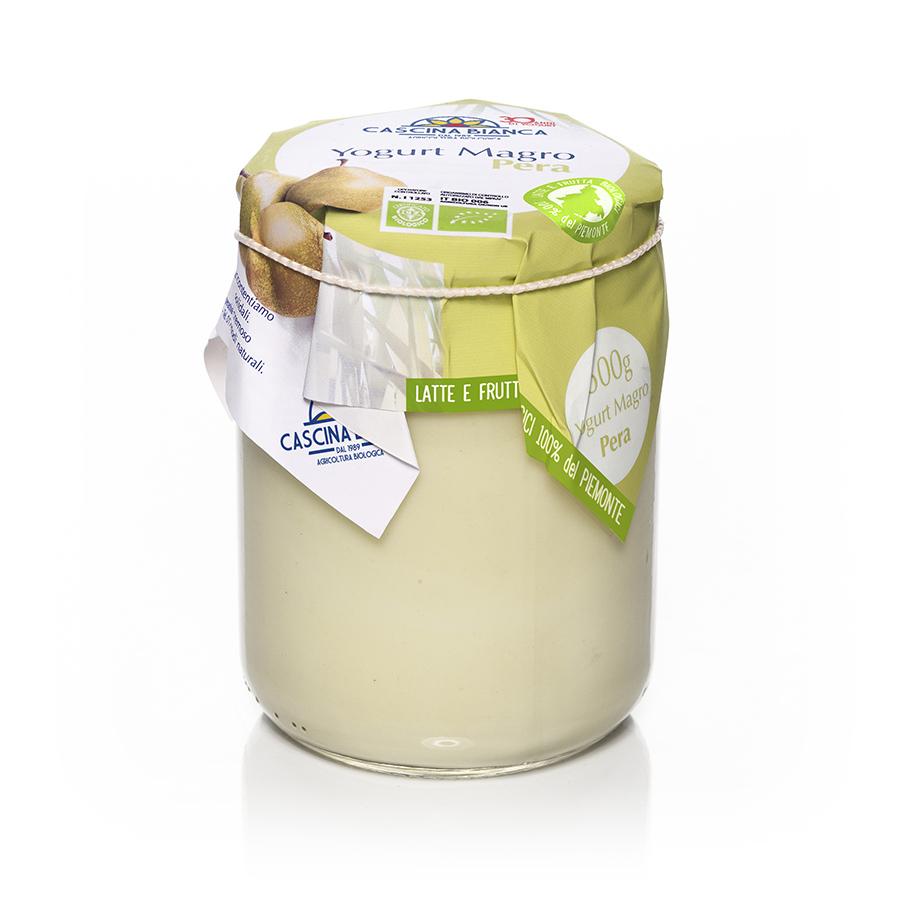CascinaBianca Piemonte Yogurt Magro Biologico 500g Pera
